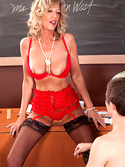 Pervert teacher have sex with young stud