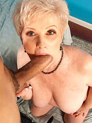 Aged dissolute Jewel sucking cock