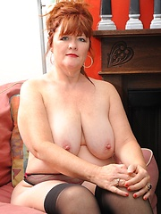 Chubby 50 year old MILF gets pounded in her fat ass!