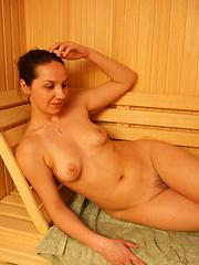 Take a strol through an all female mature sauna