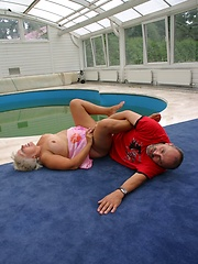 Poolside porking, peeper\\\\\\\'s delight