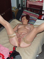 Naughty mature Rosie is showing off her stuff