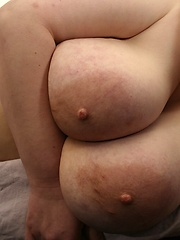 German plumper need massive cum on her large breasts