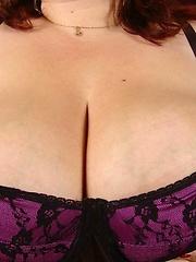 Horny plumper with extreme large breasts