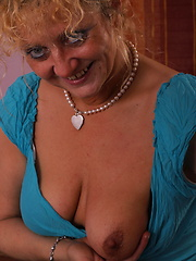 First adult session of shy aged mature