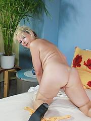 Granny maid masturbation at work
