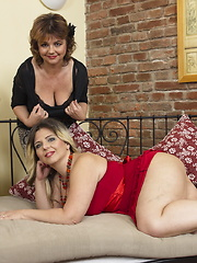 Naughty lesbian housewives make it big