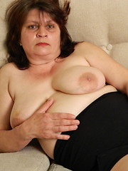Naughty mature slut playing with herself