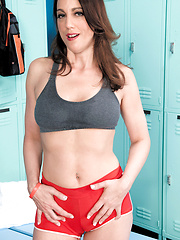 Stella Rose in locker room