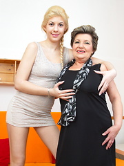 These old and young lesbians make out and then some