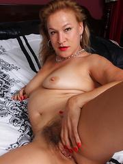 Hairy American housewife feeling  very dirty