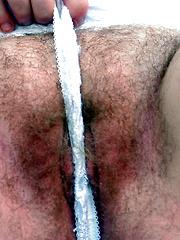 Hairy bushed slut loves it in the ass!
