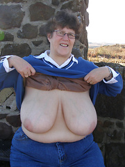Busty mature plumpers exposing their big tits