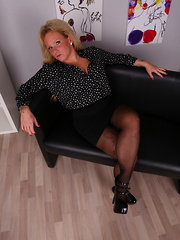 Horny German housewife getting very frisky