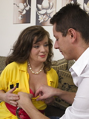 Horny mature lady having fun with her younger lover