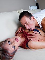 Horny housewife doing her toy boy