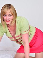 Naughty British mature lady playing alone