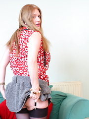 This naughty British housewife is getting ready for something