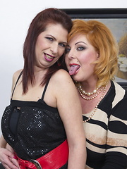 Two horny housewives go all the way